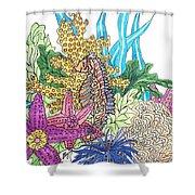 Seahorse Sanctuary  Shower Curtain
