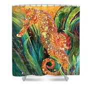 Seahorse - Spirit Of Contentment Shower Curtain