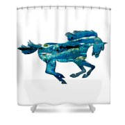 Seahorse By V.kelly Shower Curtain