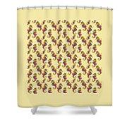 Seahorse Watercolor Art Shower Curtain