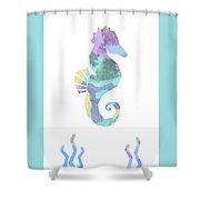 Seahorse Watercolour Shower Curtain