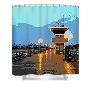Seal Beach Evening  Shower Curtain