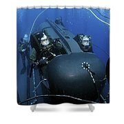 Seal Delivery Vehicle Team Members Shower Curtain by Stocktrek Images