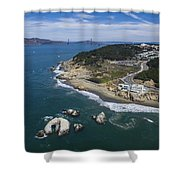 Seal Rocks At The Cliff House Shower Curtain