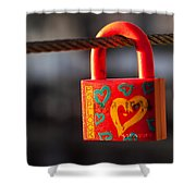 Sealed Love Shower Curtain