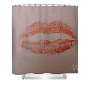 Sealed With A Red Kiss Shower Curtain