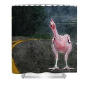 Seamore Nudist Camp Shower Curtain