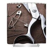 Seamstress Scissors Shower Curtain