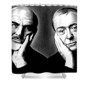 Sean Connery And Michael Caine Shower Curtain