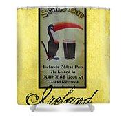 Seans Bar Guinness Pub Sign Athlone Ireland Shower Curtain