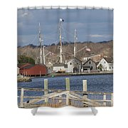Seaport Before The Storm Shower Curtain
