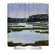 Searching Savannah Marsh By Marilyn Nolan- Johnson Shower Curtain