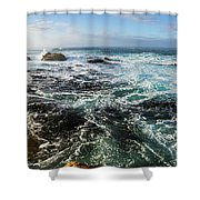 Seas Of The Wild West Coast Of Tasmania Shower Curtain