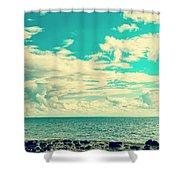 Seascape Cloudscape Instagramlike Shower Curtain
