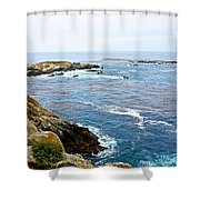 Seascape From Point Lobos State Reserve Near Monterey-california  Shower Curtain