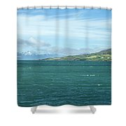 Seascape In Iceland On Summer  Shower Curtain
