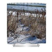 Seascape In Winter Shower Curtain