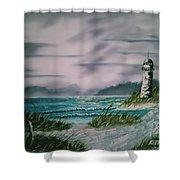 Seascape Lighthouse Shower Curtain