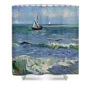 Seascape Near Les Saintes Maries De La Mer Arles June 1888 Vincent Van Gogh 1853  1890 Shower Curtain
