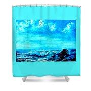 Seascape Scene Near Northbrooke-on-sea L A Shower Curtain