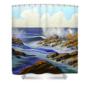 Seascape Study 2 Shower Curtain