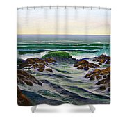 Seascape Study 6 Shower Curtain