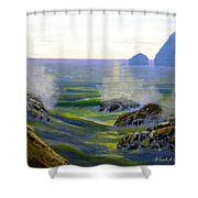 Seascape Study 7 Shower Curtain