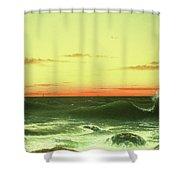 Seascape Sunset 1861 Shower Curtain