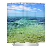 Seascape - The Colors Of Key West Shower Curtain