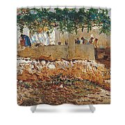 Seascape View Of Palma De Mallorca Shower Curtain