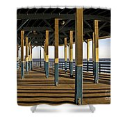 Seascape Walk On The Pier Shower Curtain