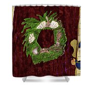 Seashell Wreathe Shower Curtain