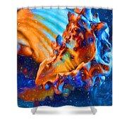 Seashells Abstract Shower Curtain