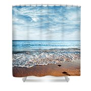 Seashore Shower Curtain by Carlos Caetano