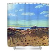 Seashore Shadows Shower Curtain