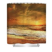 Seashore Sunset Shower Curtain