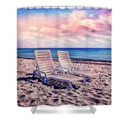 Seaside Chairs Shower Curtain