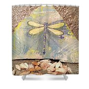 Seaside Dragonfly Shower Curtain
