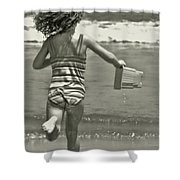 Seaside Excitement Shower Curtain