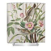 Seaside Finch Shower Curtain