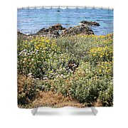Seaside Flowers Shower Curtain