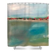Seaside Garden Shower Curtain