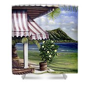 Seaside Hotel Shower Curtain