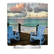 Seaside In Antigua Shower Curtain