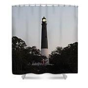 Seaside Lamp Shower Curtain
