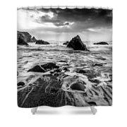 Seaside B/w  Shower Curtain