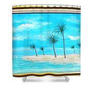 Seaside Palms  Shower Curtain