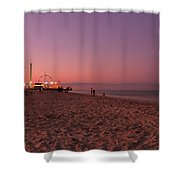 Seaside Park I - Jersey Shore Shower Curtain by Angie Tirado