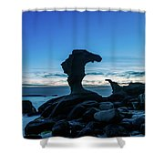 Seaside Rock Formations At Daybreak Shower Curtain