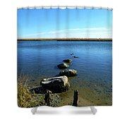 Seaside Rocks Shower Curtain